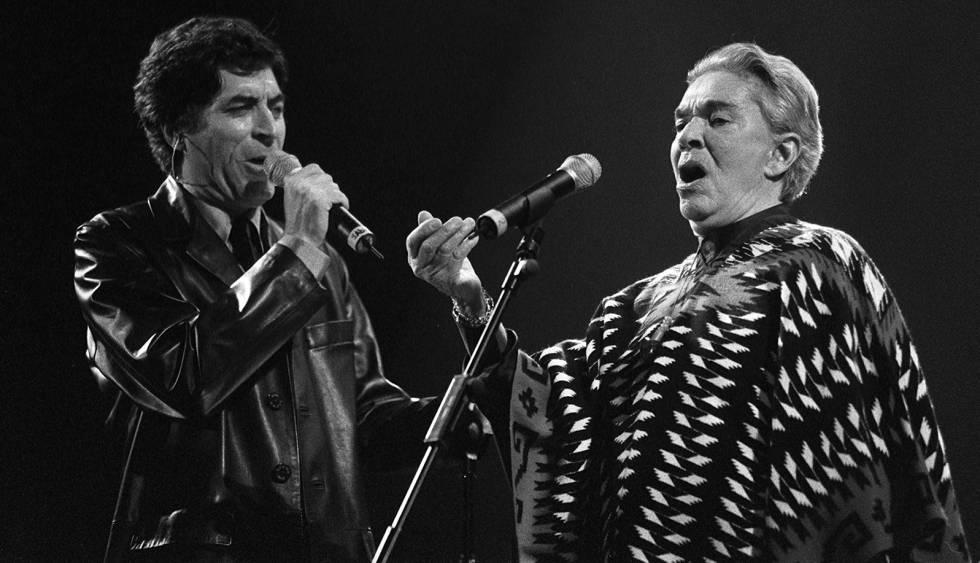 Joaquín Sabina y Chavela Vargas en el homenaje a José Alfredo Jiménez
