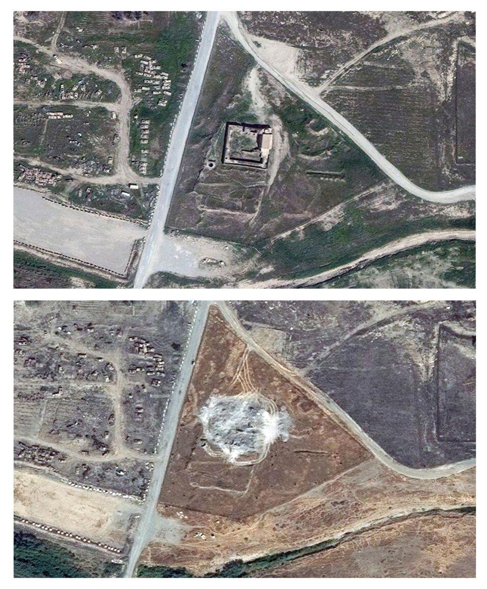 Fotografía de satélite del convento de San Elías