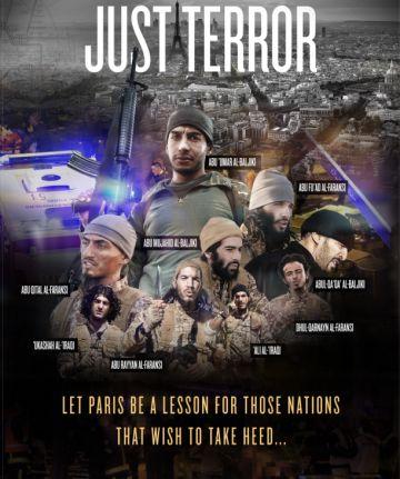 Página en la que el ISIS identifica a los terroristas del 13-N.