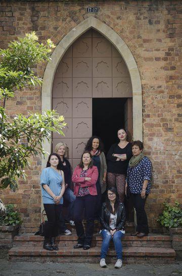Mujeres del equipo de Católicas por el derecho a decidir, en Bogotá.