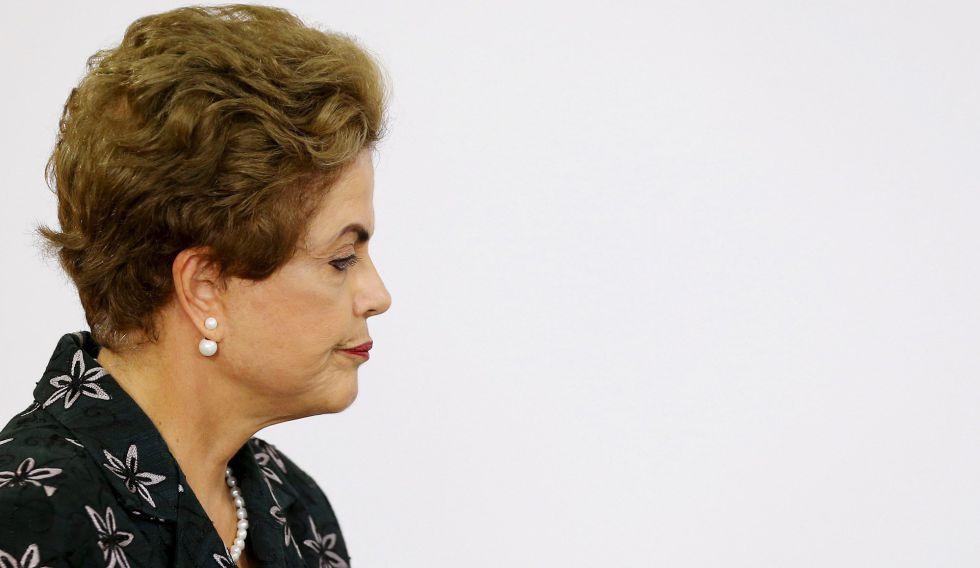 La presidenta de Brasil, Dilma Rousseff, el martes en Brasilia.