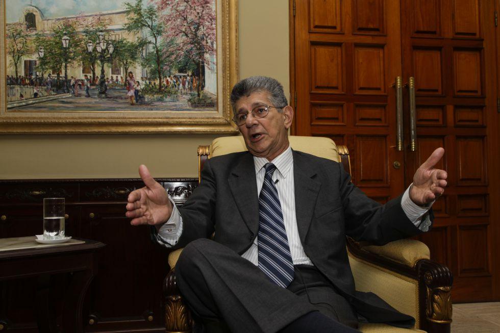 El presidente de la Asamblea Nacional, Henry Ramos Allup.
