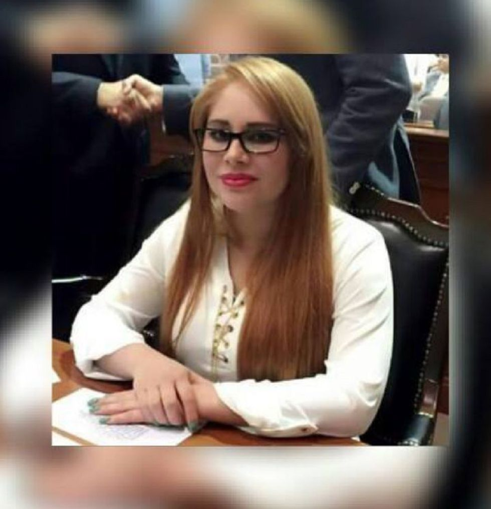 La diputada Lucero Sánchez López en el Congreso de Sinaloa