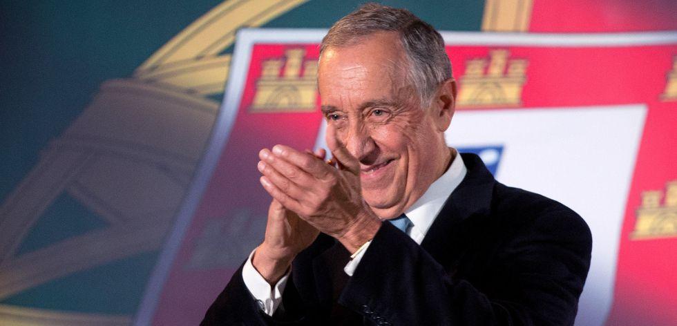 Marcelo Rebelo de Sousa, el gran favorito para ganar las elecciones presidenciales de hoy en Portugal.