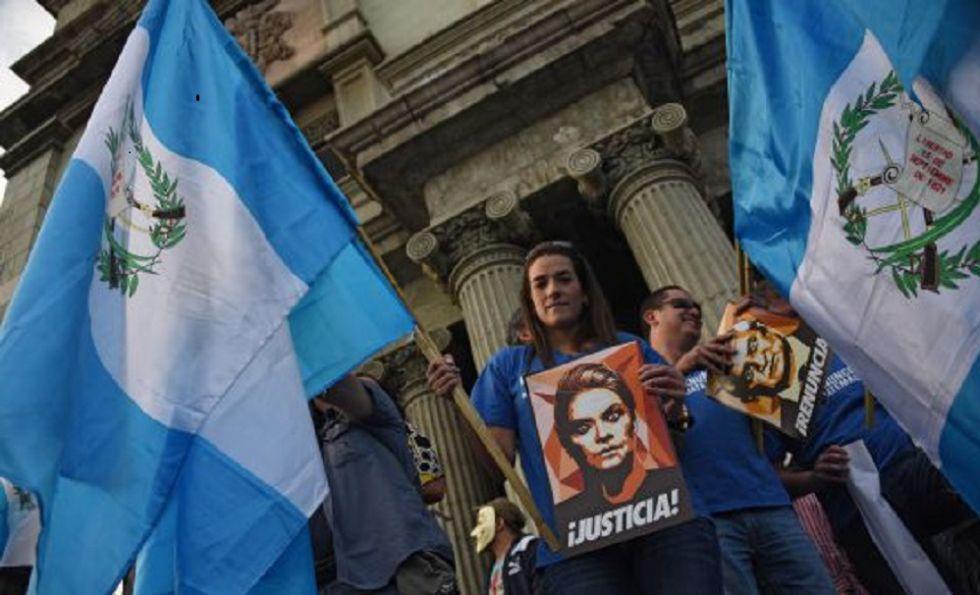 Protesta en Guatemala para pedir la dimisión del presidente Otto Pérez.