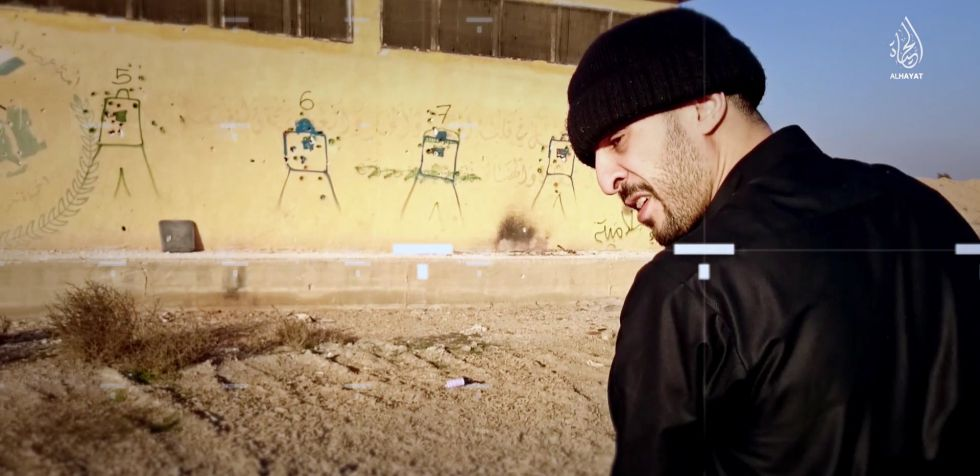 Fotograma del vídeo en el que aparece Brahim Abdeslam.