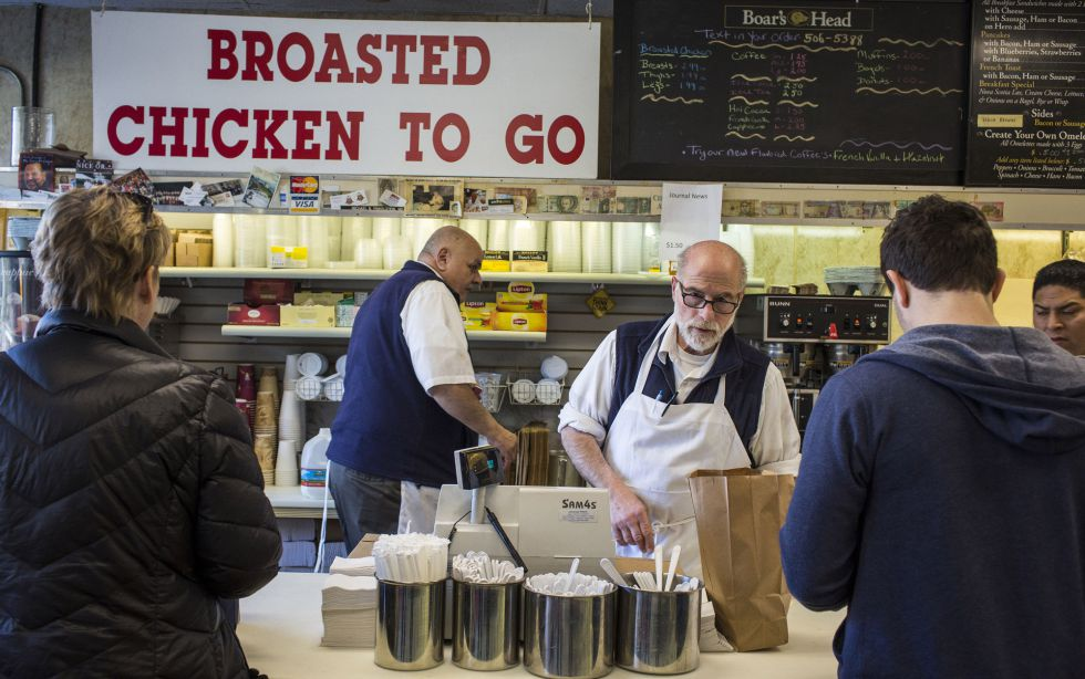 Cafetería del centro de Chappaqua a la que suele acudir Bill Clinton