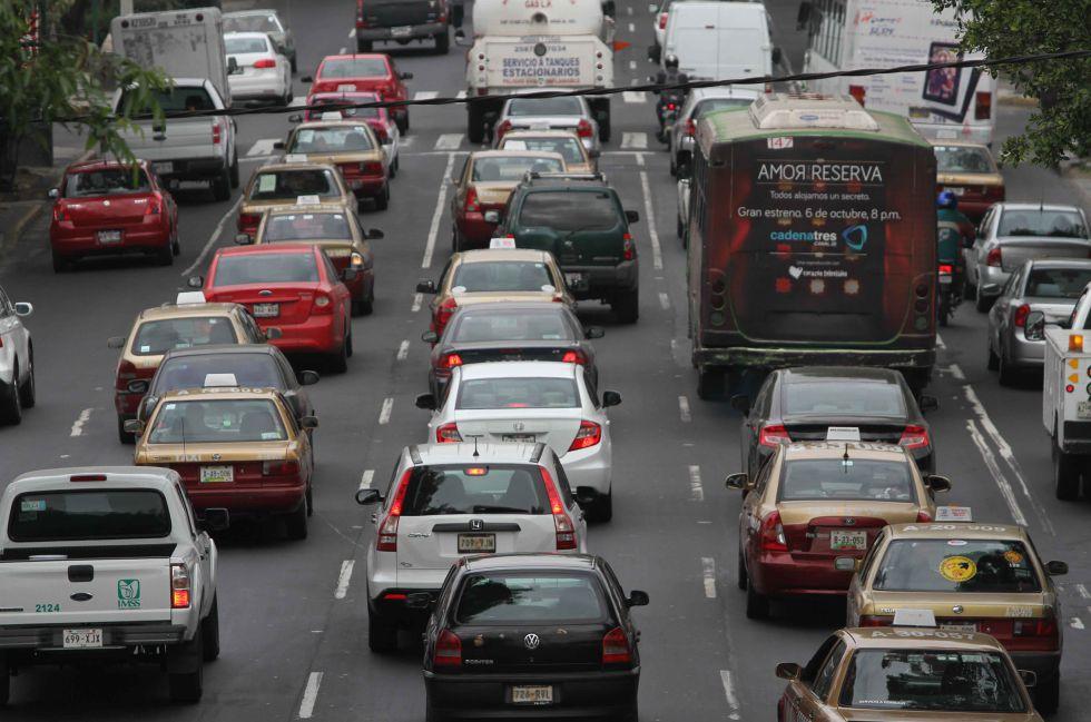 Vehículos de la Ciudad de México, en una imagen de archivo.