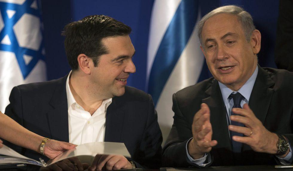 El primer ministro de Israel, Benjamín Netanyahu y Alexis Tsipras