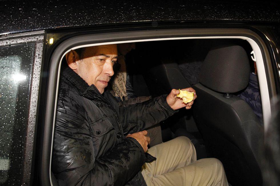 Moreira a su salida de la prisión de Soto del Real.
