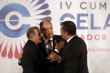 Danilo Medina, Luis Guillermo Solís y Rafael Correa.