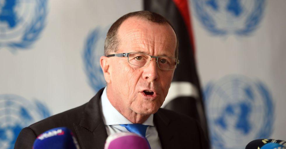 El enviado especial de la ONU para Libia, Martin Kobler