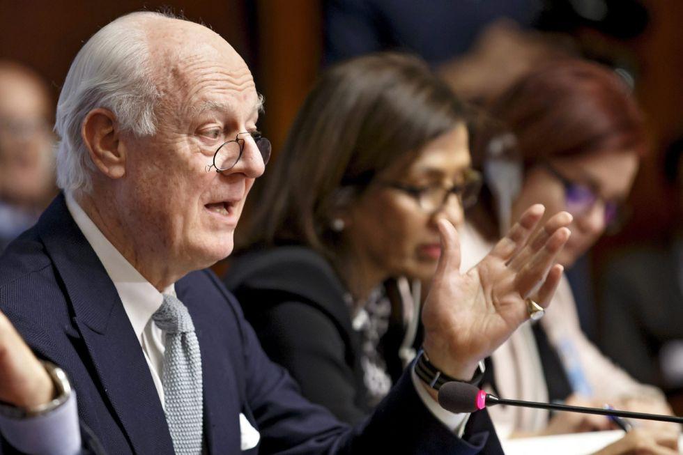 El enviado especial de Naciones Unidas para el conflicto en Siria, Staffan de Mistura