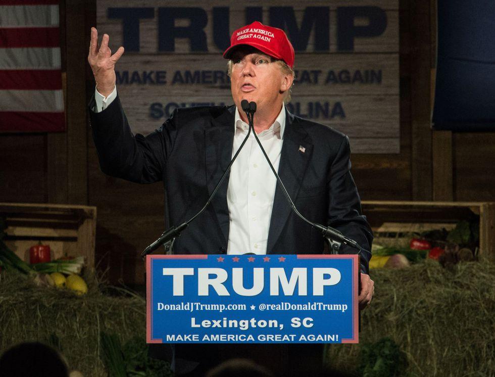 El candidato a la presidencia de Estados Unidos Donald Trump.
