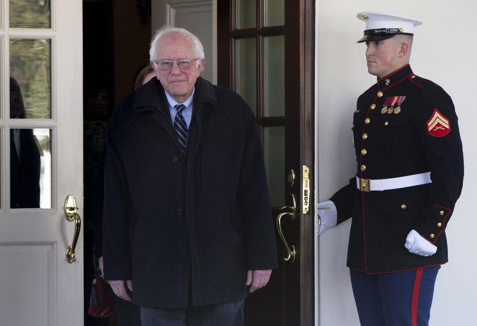 Bernie Sanders, a su salida de la Casa Blanca.
