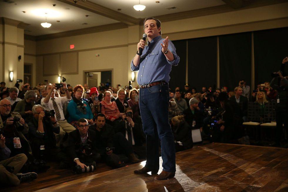 Ted Cruz durante un discurso en West Des Moines el pasado miércoles.