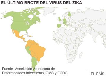 14 países han registrado ya casos 'importados' del virus del zika