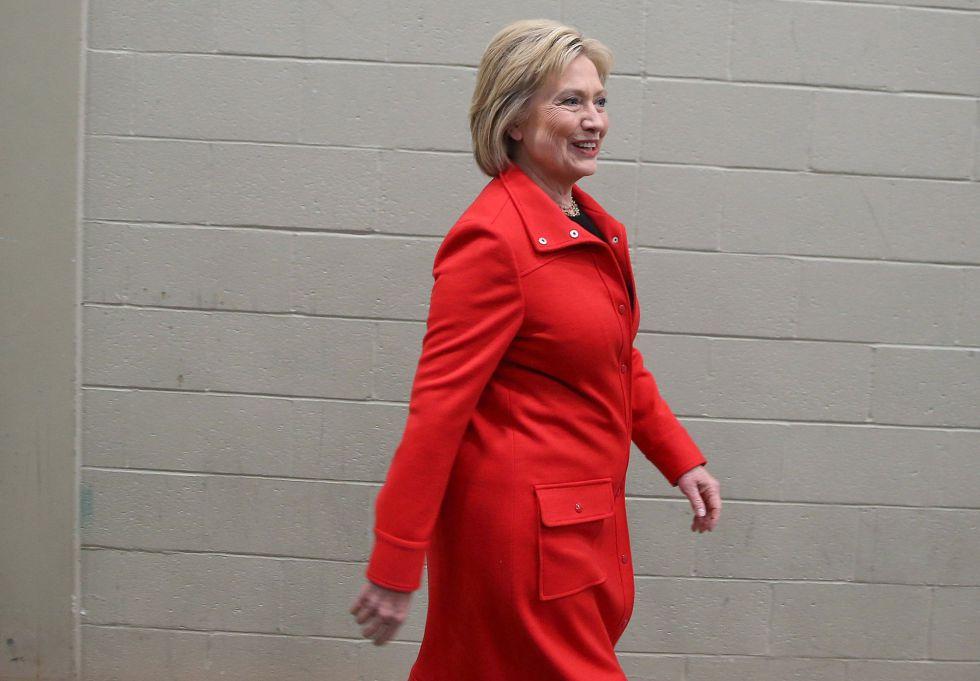 La candidata demócrata Hillary Clinton en Des Moines, Iowa