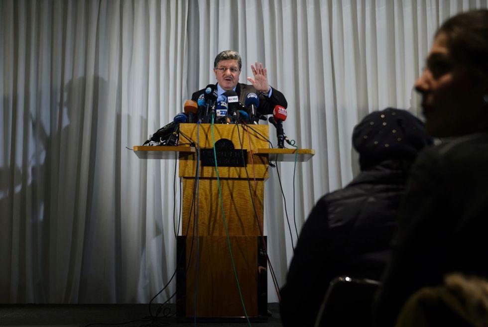 Salem Muslit, portavoz de la oposición siria