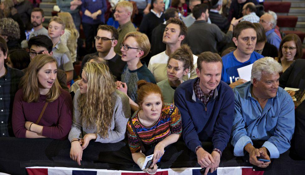 Seguidores de un discurso electoral.