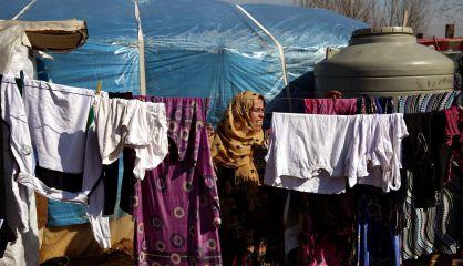 Una mujer siria, en el campo de Kab Elias, en el este de Líbano.