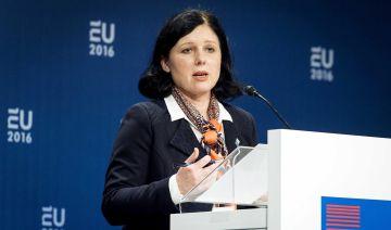 La comisaria de Justicia, Vera Jourová, el pasado 26 de enero.