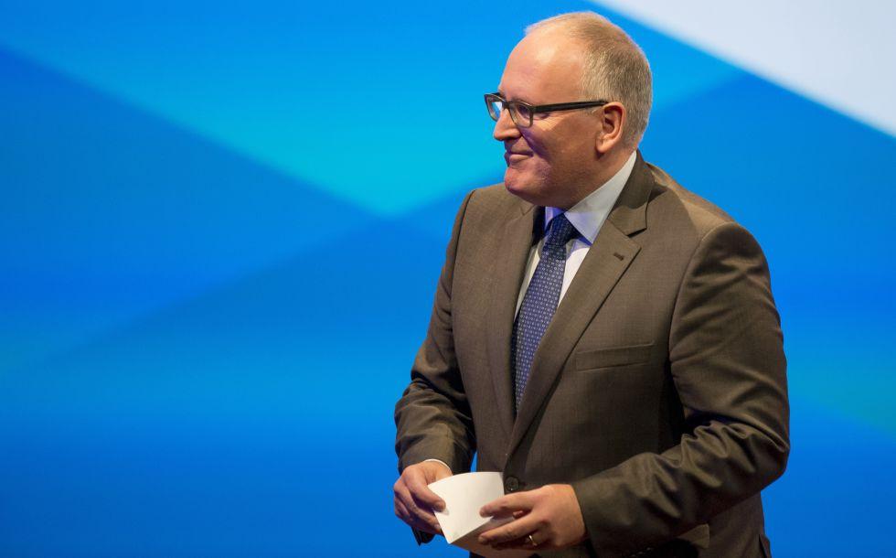 El vicepresidente de la Comisión Europea, Frans Timmermans