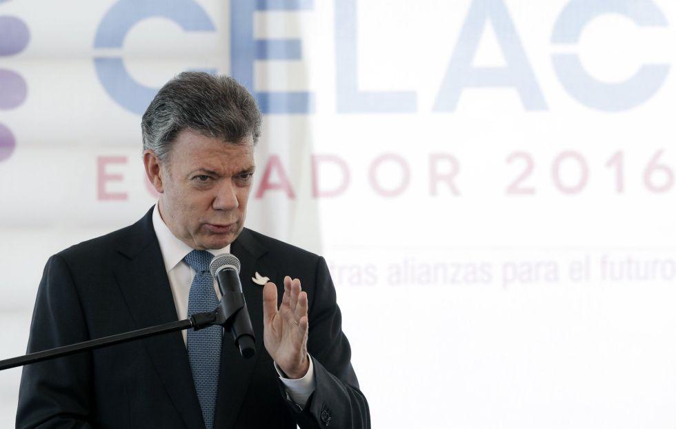 Santos, durante la pasada cumbre de la CELAC.