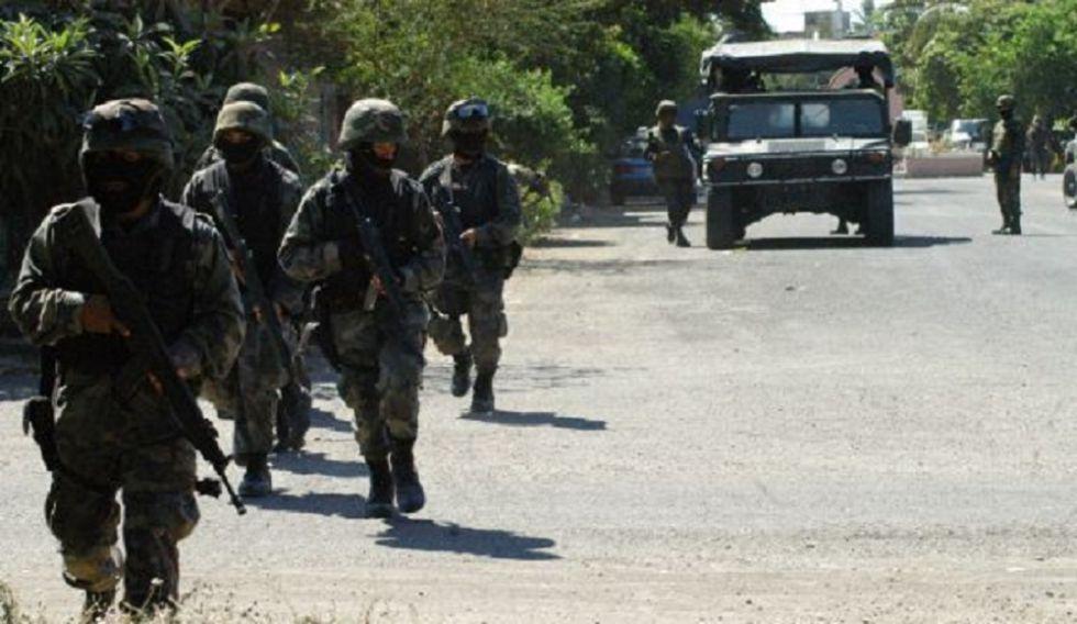Militares durante un operativo en Coahuila, al norte de México.