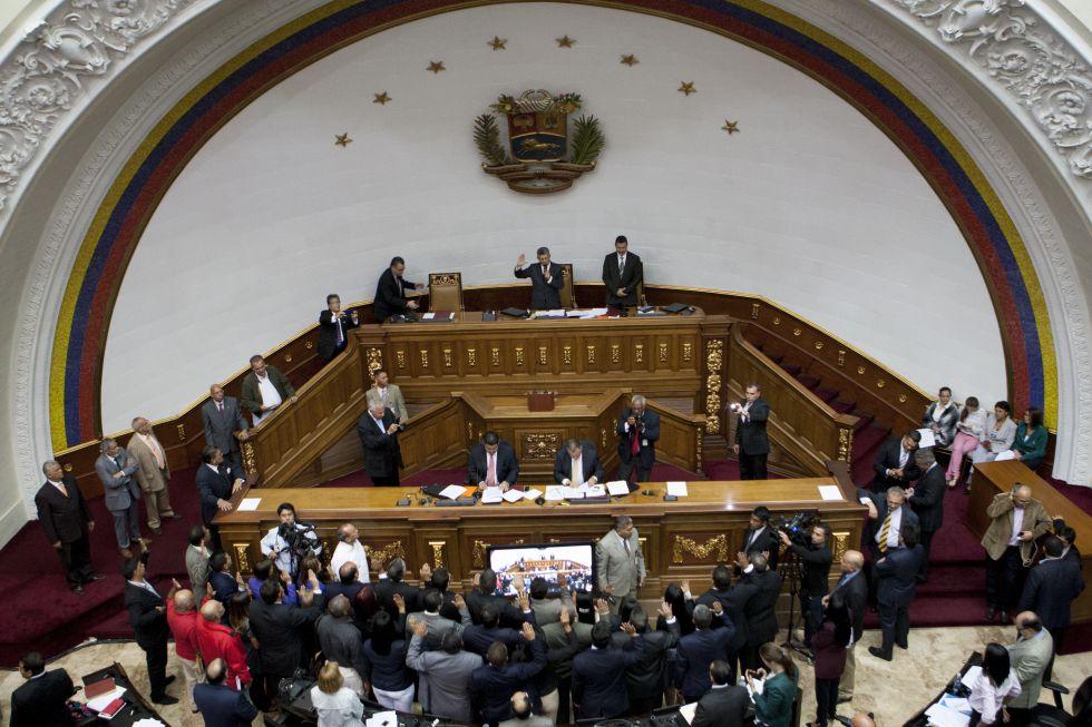 Sesión de la Asamblea Nacional venezolana en Caracas el 26 de enero.