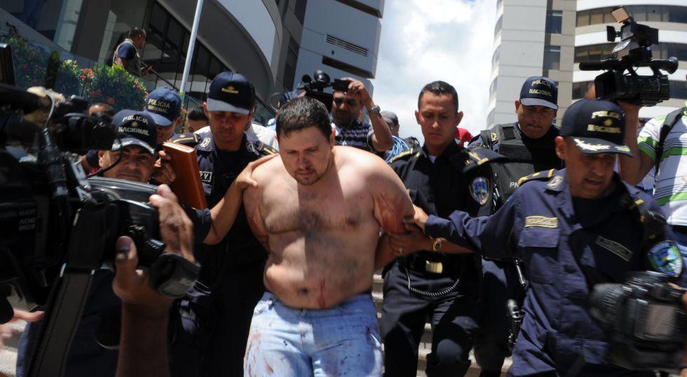 Rigoberto Paredes, asesino de un abogado, detenido en septiembre de 2015 en Honduras.