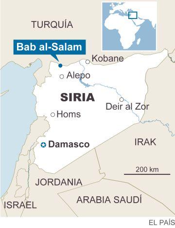 Decenas de miles de sirios huyen de Alepo hacia la frontera con Turquía
