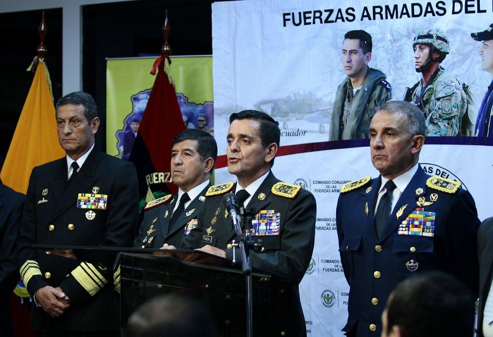 El Alto Mando Militar, en una rueda de prensa el viernes