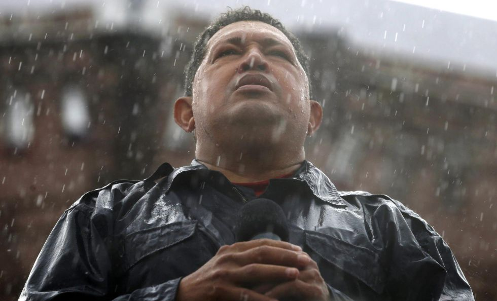 Hugo Chávez en Caracas en 2012.