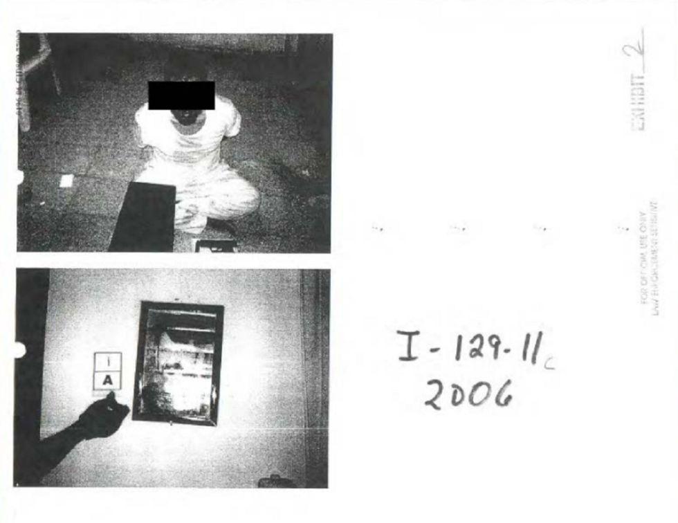Imagen de los documentes publicados por el Pentágono