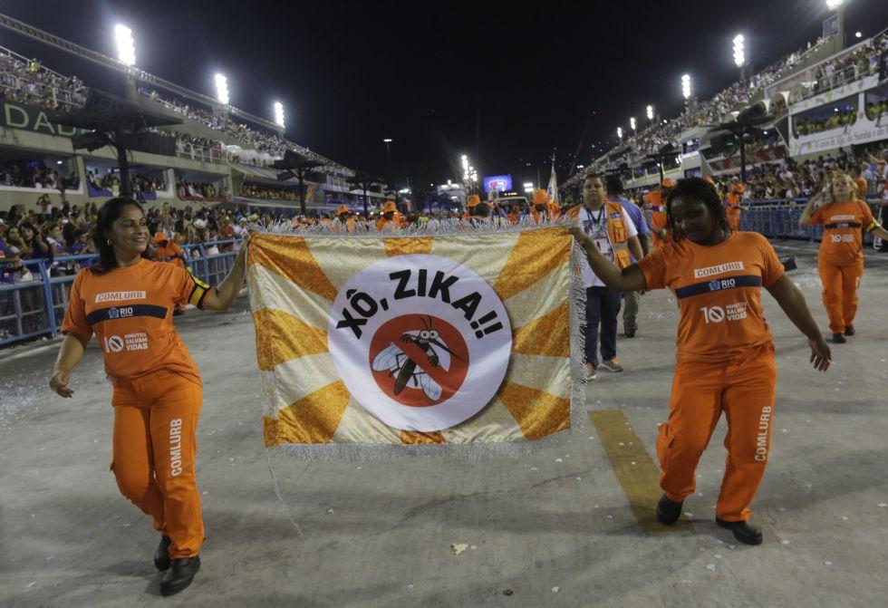 Campaña sobre el virus del zika en el Carnaval de Río de Janeiro, sede de los Juegos Olímpicos 2016