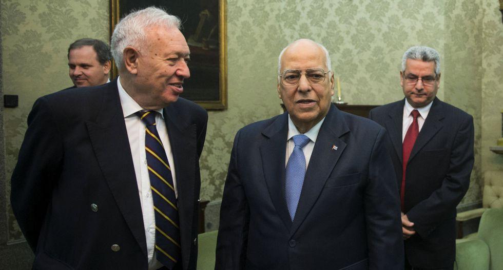 José Manuel García-Margallo, y el vicepresidente del Consejo de Ministros de Cuba, Ricardo Cabrisas este martes en Madrid.