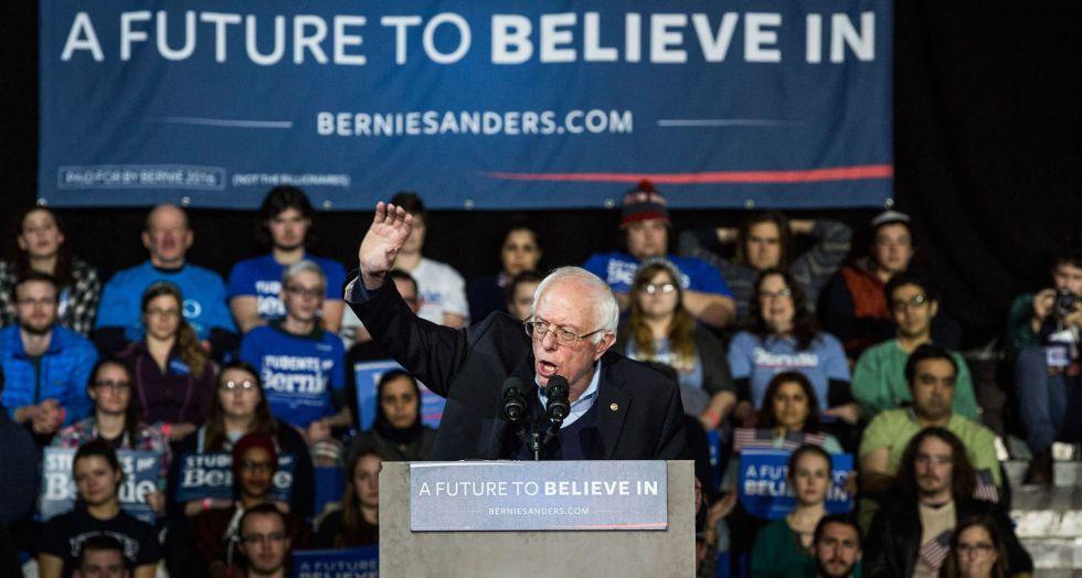 El candidato demócrata Bernie Sanders.