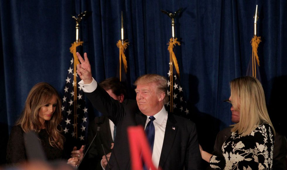 Donald Trump, tras su victoria en New Hampshire