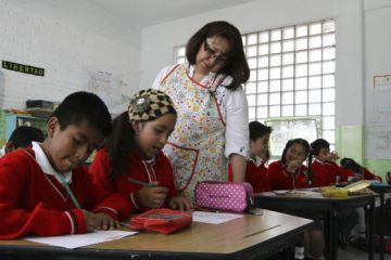 Estudiantes en una escuela de la Ciudad de México