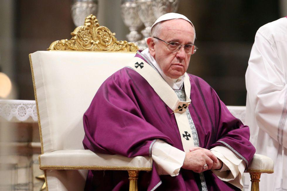 El papa Francisco celebra el miércoles de ceniza en Roma