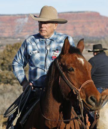 Clive Bundy, el pasado día 5 en el funeral del ranchero muerto durante la crisis.