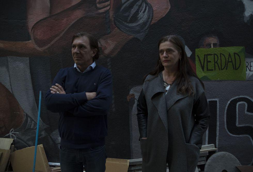 Los peritos Miguel Nieva y Mercedes Doretti.