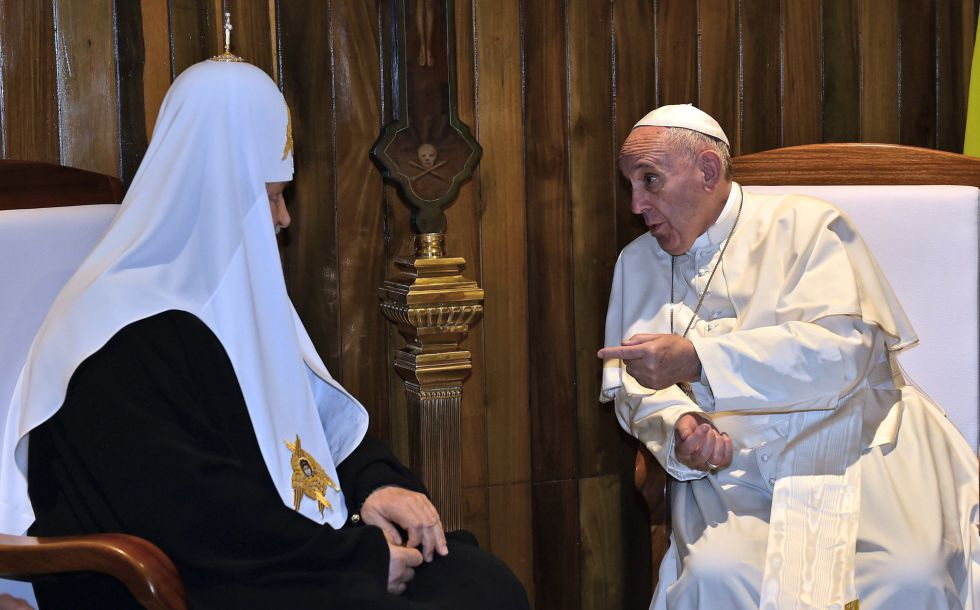 El Papa y el patriarca ruso, este viernes en La Habana (Cuba).