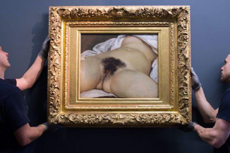 El cuadro 'L'origine du monde', cuya publicación en el perfil de un usuario francés fue censurada por Facebook.