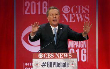 John Kasich, durante el debate.