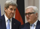 U.S. Secretary of State John Kerry (L) and German Foreign Minister Frank-Walter Steinmeier speak before the Libya meeting on the sidelines of the second day of the Munich Security Conference (MSC) in Munich, Germany, February 13, 2016. Picture taken February 13, 2016.   REUTERSChristof StachePool