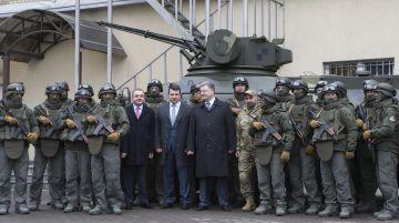 Poroshenko con el equipo de la Oficina Nacional contra la Corrupción