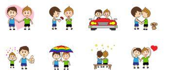 Algunos de los 'emoji' de la tienda de la aplicación Line.