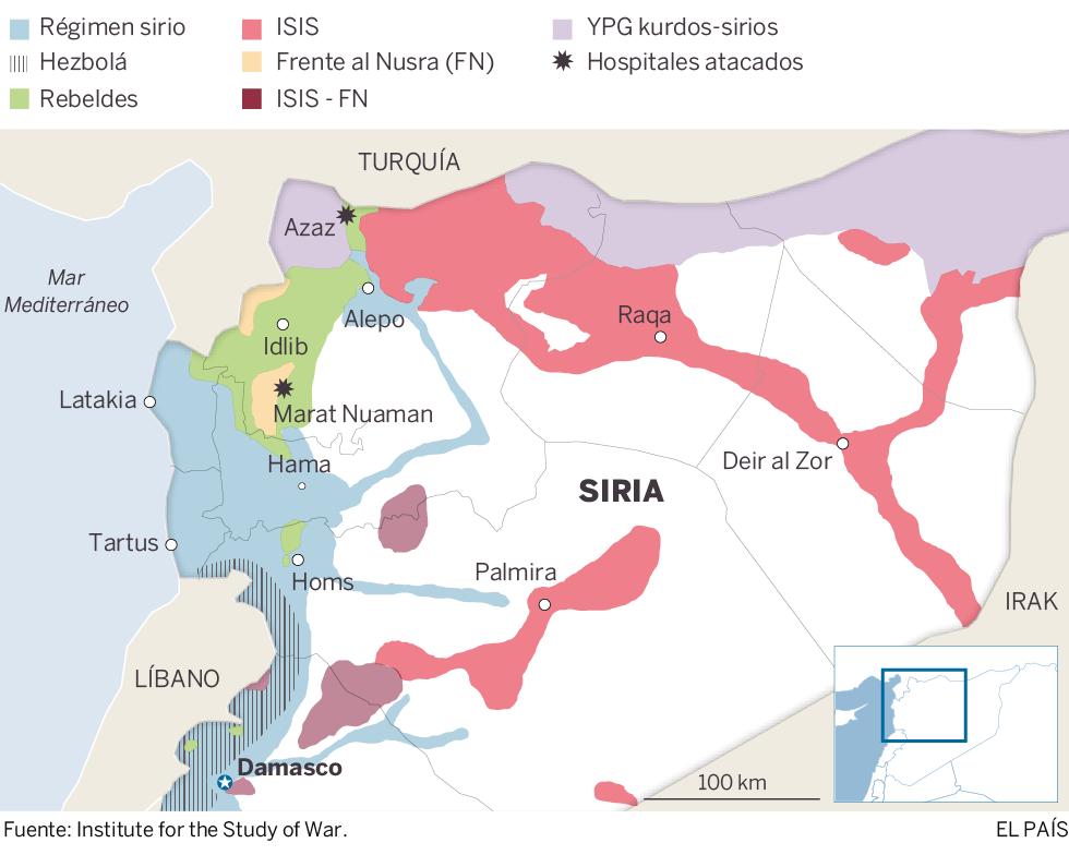 Ataques con misiles golpean hospitales, escuelas y refugios en Siria